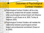 outcomes of psychological contract violation