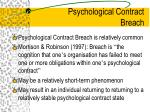 psychological contract breach