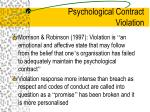 psychological contract violation