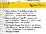 types of trust