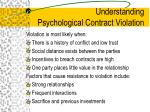 understanding psychological contract violation