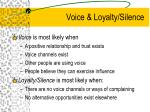 voice loyalty silence
