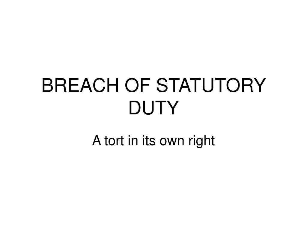 breach of statutory duty l.