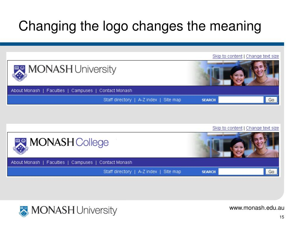 Changing the logo changes the meaning