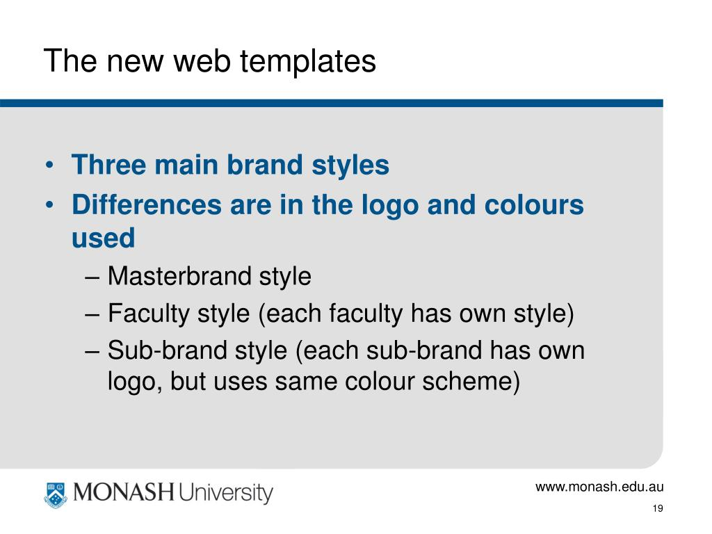 The new web templates