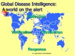 global disease intelligence a world on the alert