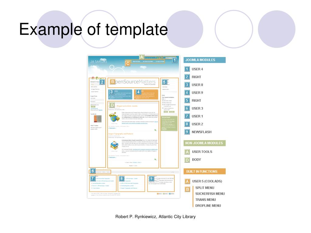 Example of template