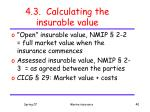 4 3 calculating the insurable value