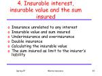 4 insurable interest insurable value and the sum insured