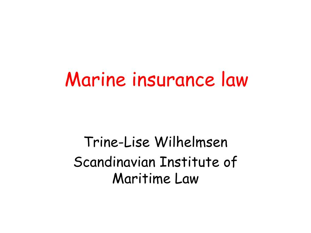marine insurance law l.