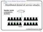 distributed denial of service attacks14