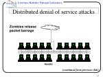 distributed denial of service attacks15