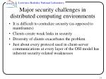 major security challenges in distributed computing environments