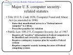 major u s computer security related statutes