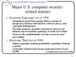 major u s computer security related statutes37