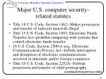 major u s computer security related statutes38