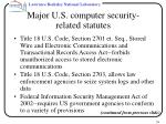 major u s computer security related statutes39