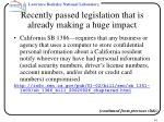 recently passed legislation that is already making a huge impact41