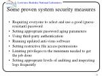 some proven system security measures