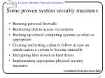 some proven system security measures22