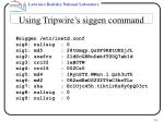 using tripwire s siggen command