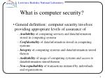 what is computer security