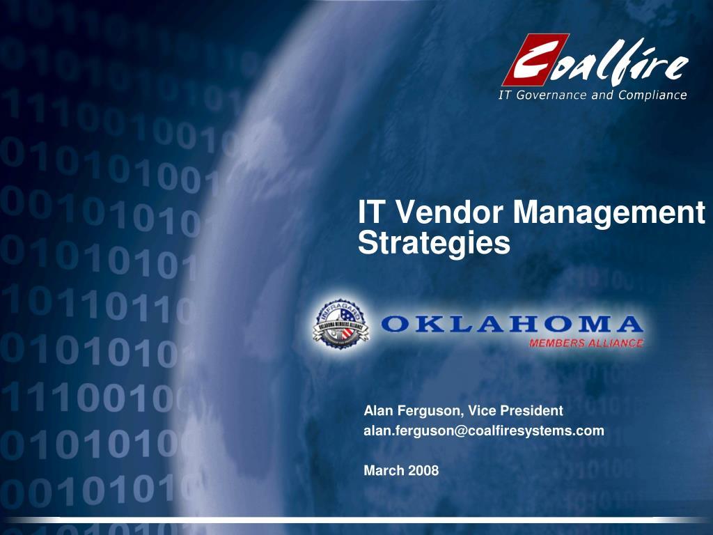 it vendor management strategies l.
