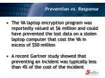 prevention vs response