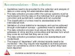 recommendations data collection