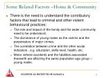 some related factors home community