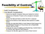 feasibility of controls