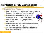 highlights of ce components ii