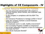 highlights of ce components iv