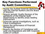 key functions performed by audit committees11
