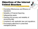 objectives of the internal control structure