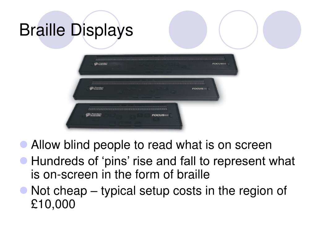 Braille Displays