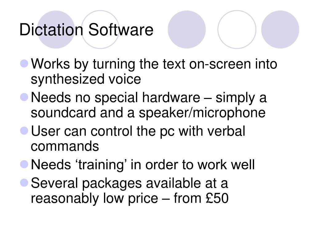 Dictation Software