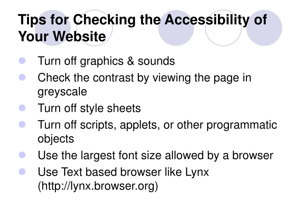 Tips for Checking the Accessibility of Your Website