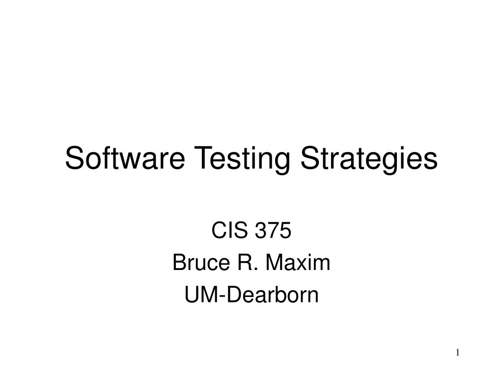 software testing strategies l.