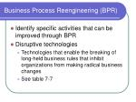 business process reengineering bpr34