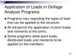 application of loads in grillage analysis programs