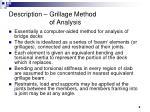 description grillage method of analysis