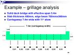 example grillage analysis