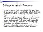 grillage analysis program