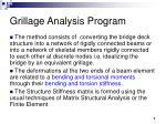 grillage analysis program7