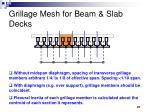 grillage mesh for beam slab decks