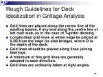 rough guidelines for deck idealization in grillage analysis