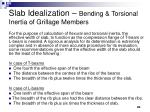 slab idealization bending torsional inertia of grillage members