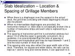 slab idealization location spacing of grillage members14