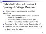 slab idealization location spacing of grillage members17